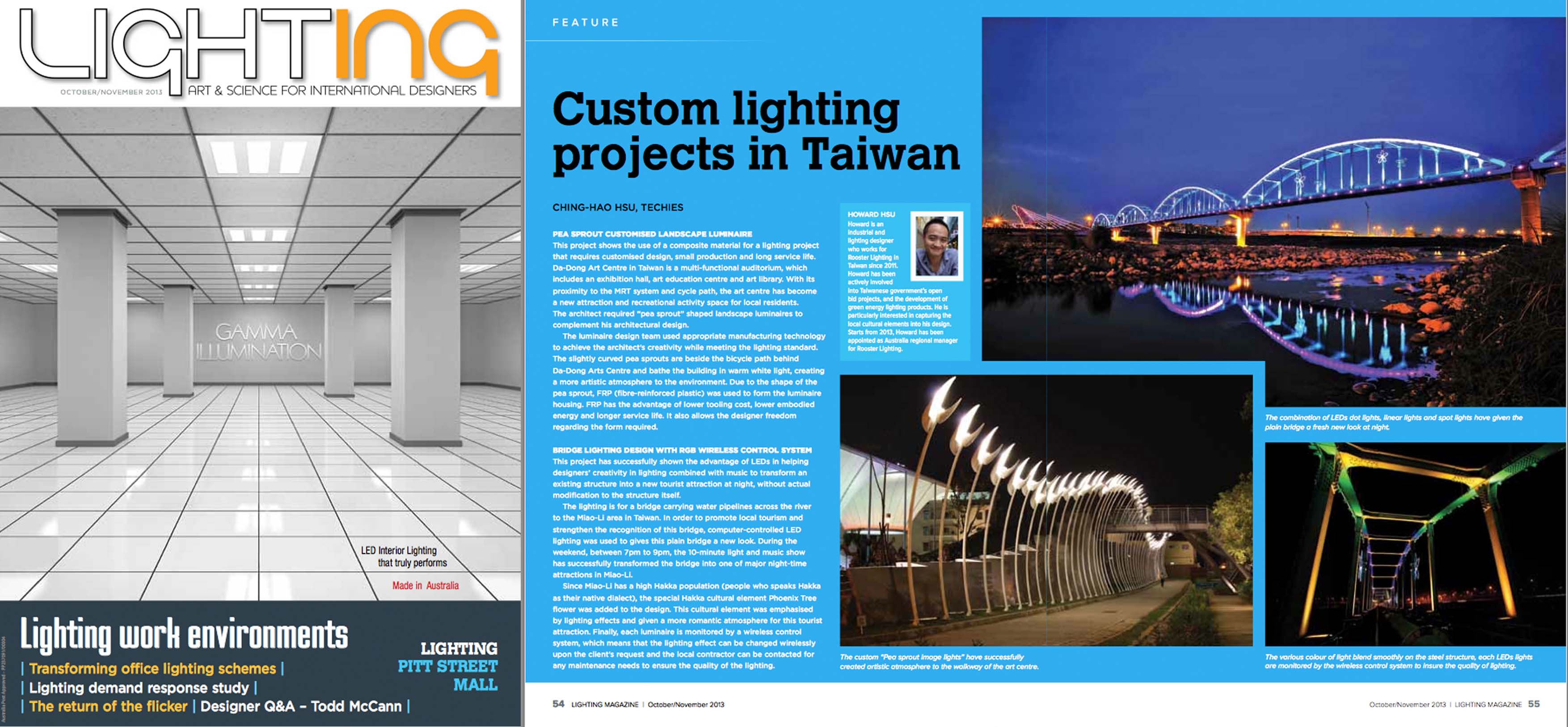P. 54~55 Feature article of our projects
